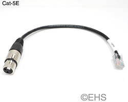 DMX 3 pin XLR Female to RJ-45 Adapter, EHS-Built
