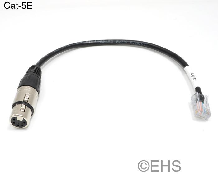 Dmx 5 Pin Xlr Female To Rj