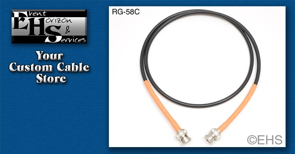 Rg 58c 50ohm Coax Cable Bnc Event Horizon Amp Services