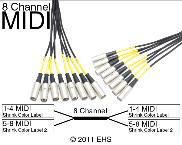Mogami 2932 8 Channel Midi Snake Event Horizon Services